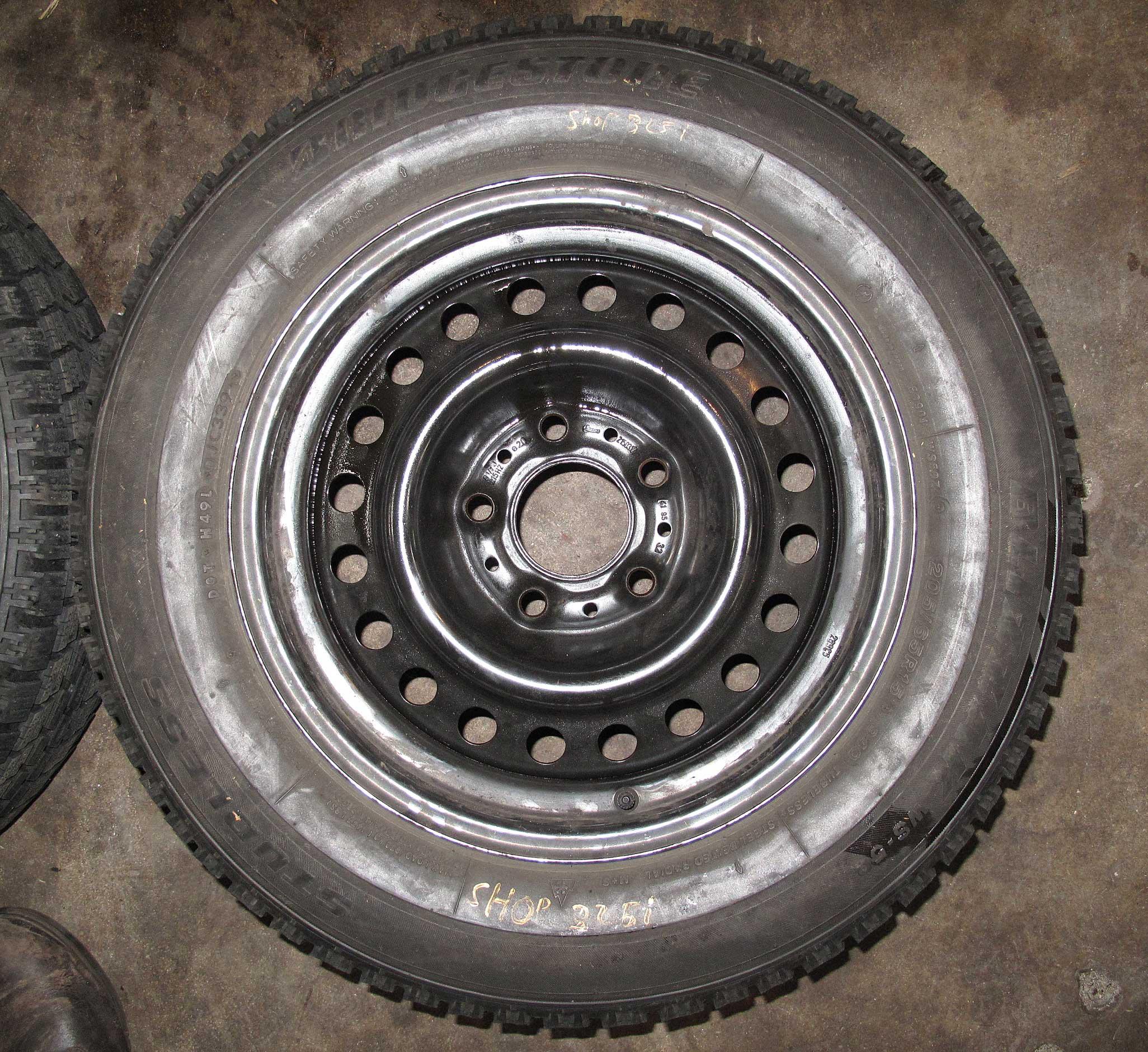 Used Steel Wheels : Bmw e quot steel wheel winter tire pair set