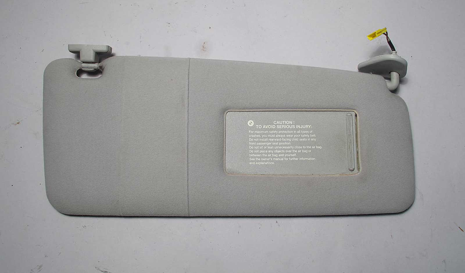 Bmw E39 5 Series E38 Right Passenger Sun Visor Grey Cloth