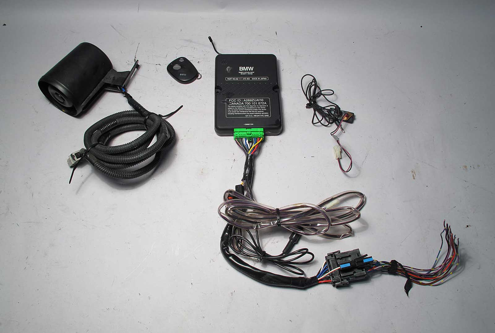 Bmw Z3 Roadster Factory Alarm System Kit With Siren Fob