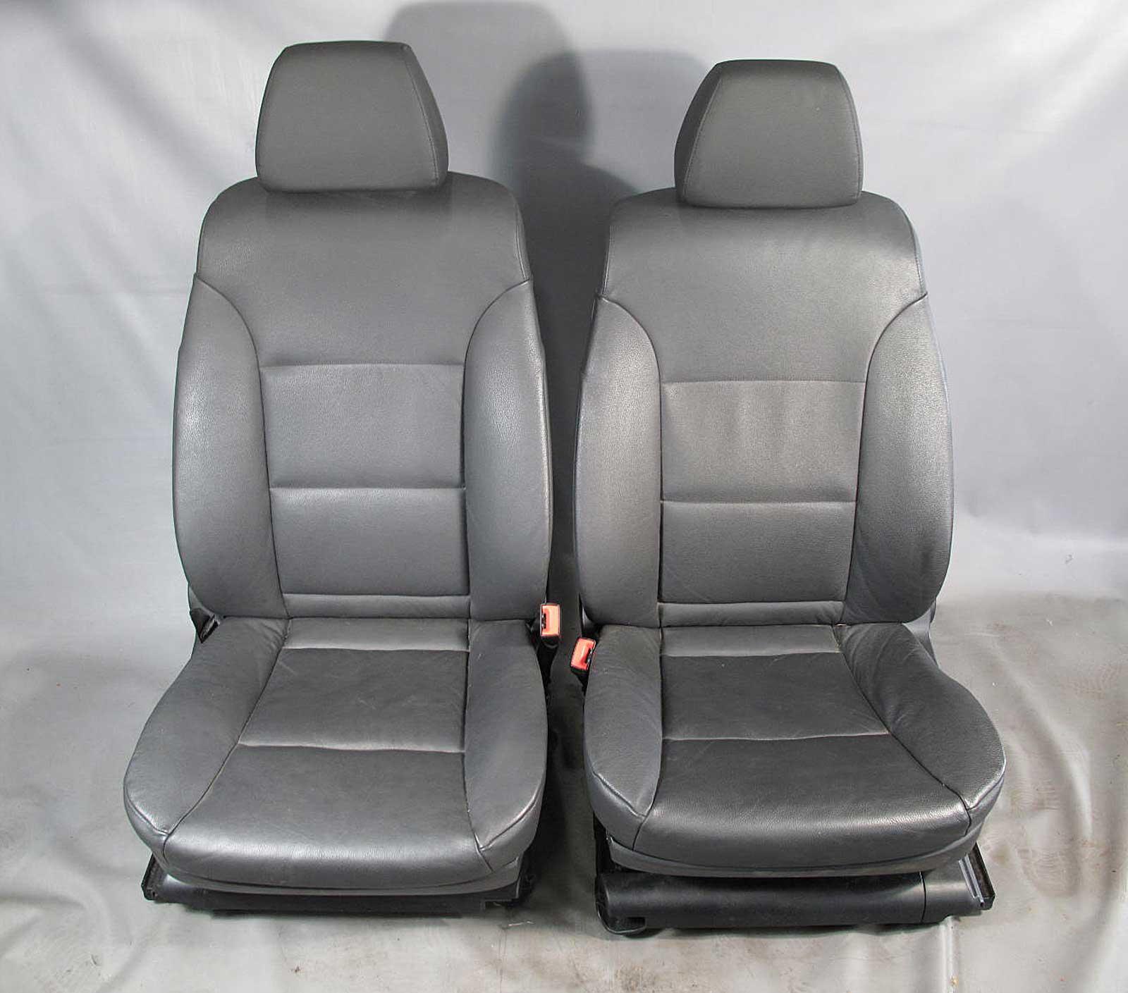 BMW E60 5 Series Front Seats Pair Left Right Black Leather Power Mem