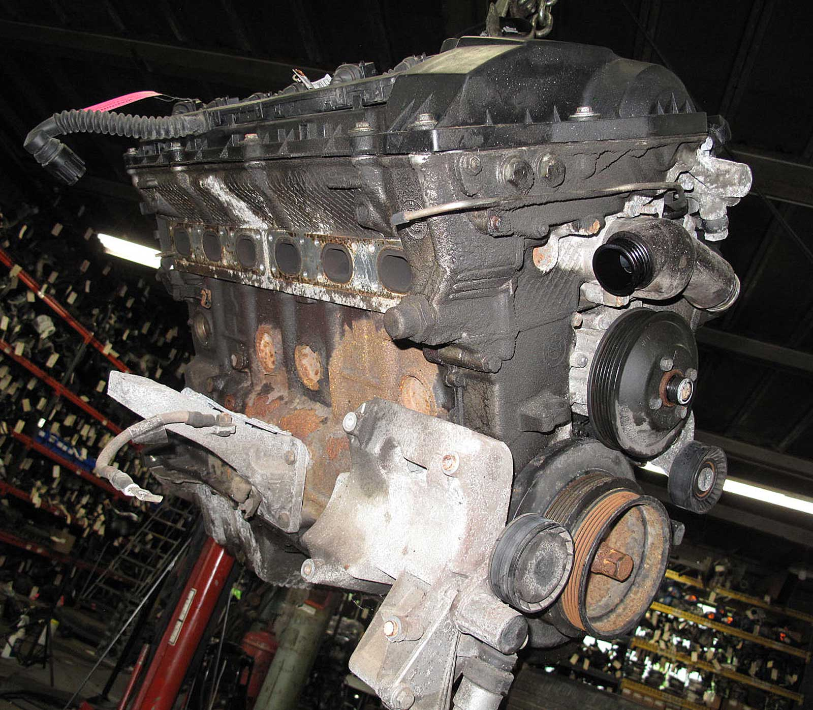 BMW E36 328i 2.8L M52 Inline-6 Engine Longblock Assembly