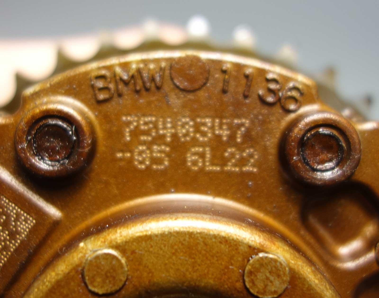 2008 Bmw Z4 Camshaft: BMW N54 3.0L 6-Cyl Twin Turbo Intake Camshaft Timing Gear