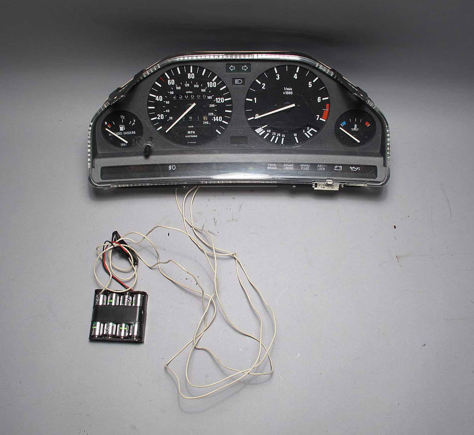 BMW E30 Late Model Instrument Gauge Cluster AS-IS PARTS Speedo Tach ...