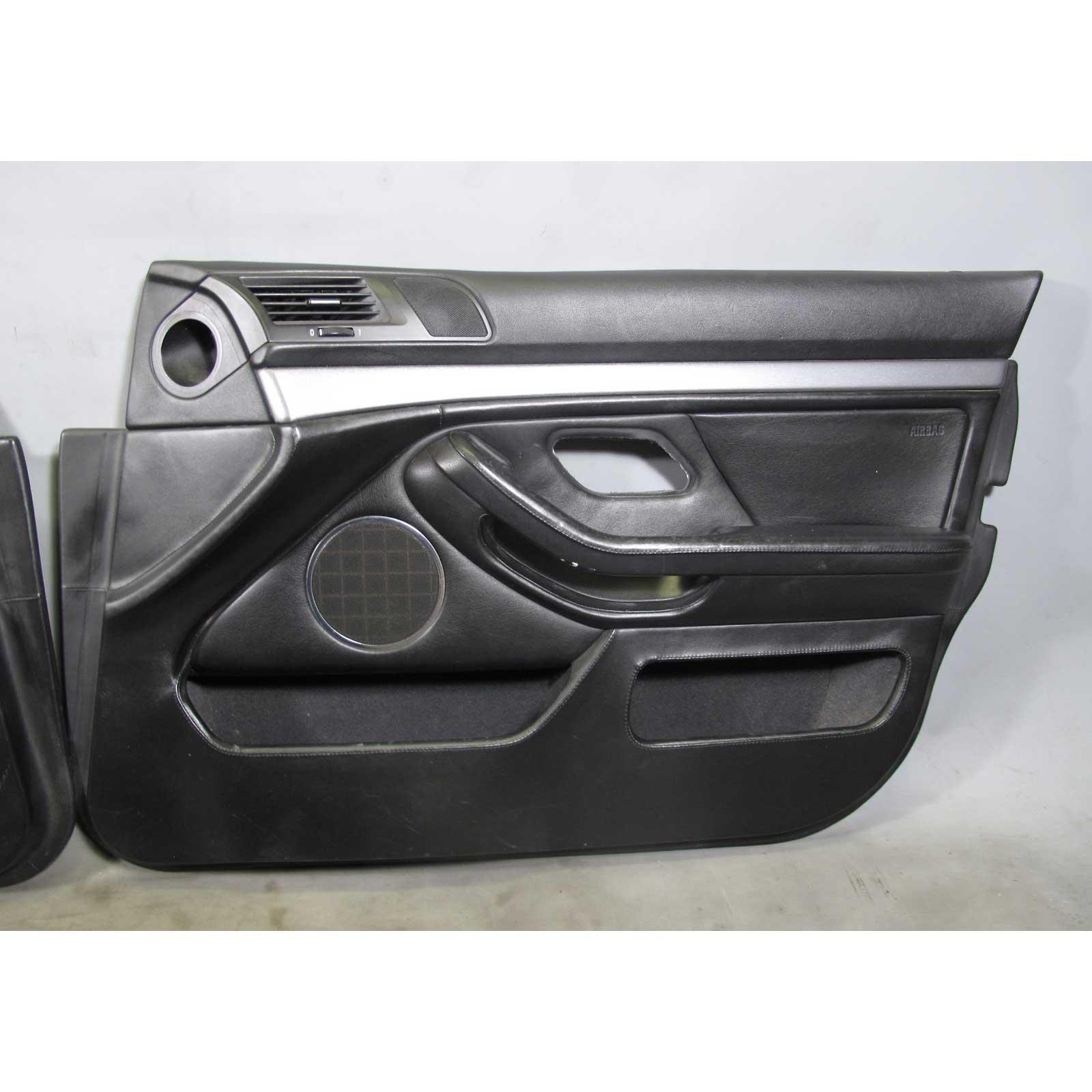 2000 2003 bmw e39 m5 m sedan front interior door panel trim black heritage oe ebay for E39 interior door handle replacement